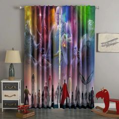 3D Printed Avengers Infinity War Style Custom Living Room Curtains – Westbedding