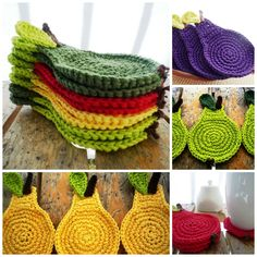 #crochet #coasters #home #monikadesign #kitchen #fruit