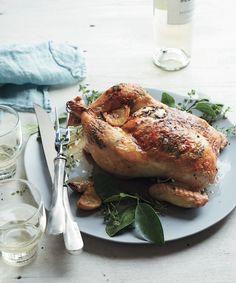 Lemon-Thyme Roast Chicken | KitchenDaily.com #SchoolYourChicken