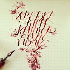 Gentian Osman - Organic Studios Mercury Red #calligraphy
