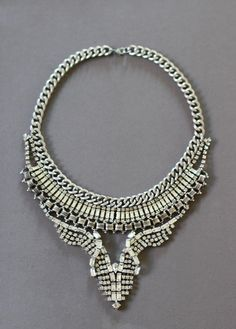 Make a new necklace out of old necklaces. Check out how with this Vintage Rhinestone DIY Necklace tutorial.
