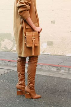 Louise Roe | All Camel Everything | How To Style Monochrome Outfits | LA Streetsyle | Front Roe fashion blog 6