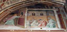 Agnolo Gaddi - Storie di San Nicola, regalo della dote a tre fanciulle povere - affresco - 1385 - Cappella Castellani - Basilica di Santa Croce a Firenze.