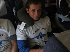 Definitely pack a neck pillow for the plane ride! On the to plane Israel by NancyK!, via Flickr