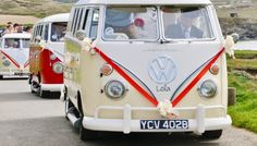 Fab VW slitscreen campervans - Lily, Lola and Lulu, from Strawberry Leisure in Cornwall (featured on a guest post on Cornwall's wedding blog Pasties & Petticoats).