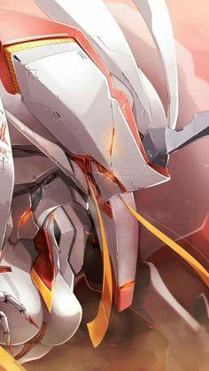 Strelizia - Darling in the Franxx art Gundam, Manga Art, Manga Anime, Querida No Franxx, Konosuba Wallpaper, Anime Zero, Steven Universe, Zero Two, Darling In The Franxx