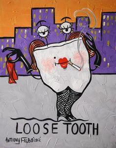 Loose Tooth Original Dental Art Collectable Teeth Dentist Anthony Falbo | eBay