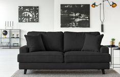 Canapea cu 3 locuri Cosmopolitan design Berlin, negru - https://ideidesigninterior.ro/canapea-cu-3-locuri-cosmopolitan-design-berlin-negru/