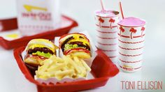 In-N-Out Burger : How To Make Miniature Fast Food : Double Double, Chees...