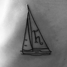 Homeslice got her first tattoo!!! #sailboat #34yrsold #shesacatch by eksachs