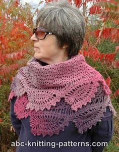 Tulip Reverie Shawl - free crochet pattern with charts by Elaine Phillips at ABC Knitting Patterns.