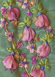 I have to use this Silk ribbon embroidery in a collage box for my grandmother since these flowers look so much like sweet peas --which were her favorite flower!