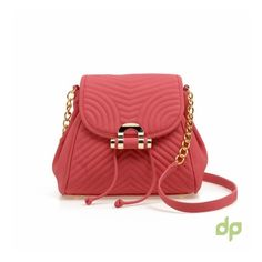 Small classic bag with design lines make this lovely and elegant coral bag. Made from polymer quality leather fabric.  http://droppedpin.net/Store/bags/1273-coral-bag.html