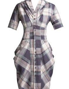 vestidos xadrez tubinho 1