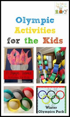 Olympic Activities for Kids featured from the kids co-op by FSPDT Kids Olympics, Summer Olympics, Korea Olympics, Olympic Idea, Olympic Games, Theme Sport, Olympic Crafts, Craft Activities For Kids, Summer School