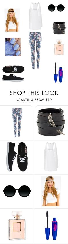"""#5"" by abecic3 ❤ liked on Polyvore featuring H&M, Shaun Leane, Splendid, Moscot, Chanel, Deborah Lippmann and Maybelline"