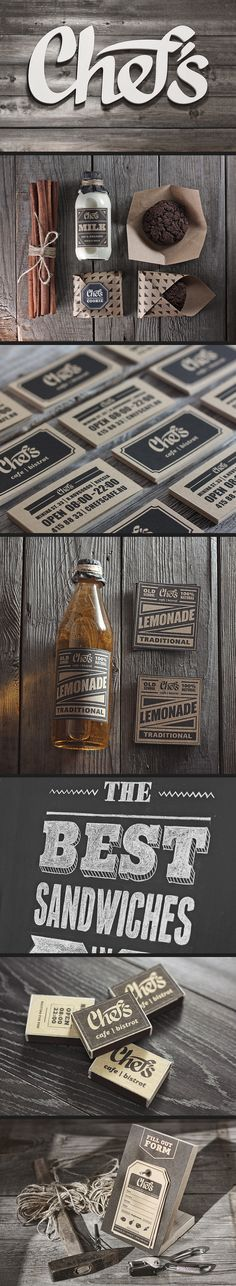 Chef's branding & packaging #rustic #vintage #stamp #chalk