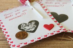How to make scratch-off Valentine's Day cards