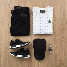 What would you add to complete this outfit? Please rate this outfit below ⤵️ Shirt: x Jeans: Miracle Air Hat: Shoes: NMD - Japan Boost Wallet: . Tomboy Outfits, Casual Outfits, Men Casual, Fashion Outfits, Fashion Trends, Fashion Ideas, Herren Style, Outfit Grid, Mode Style