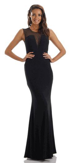 Black Sleeveless Fitted Long Prom Dress #black #eveninggown #promdress