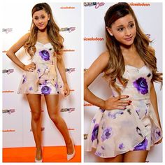 Ariana Grande I'm in love with floral things too! Ariana Grande Outfits, Ariana Grande Pictures, Shawn And Camila, Sassy, Girly, Kawaii, Dangerous Woman, Custom Dresses, Beige
