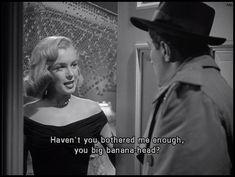 Havent you bothered me enough?! Marilyn very elegant in Asphalt Jungle