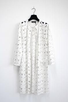 Pleather Coat Odile Fantasia White - MARCHA HÜSKES