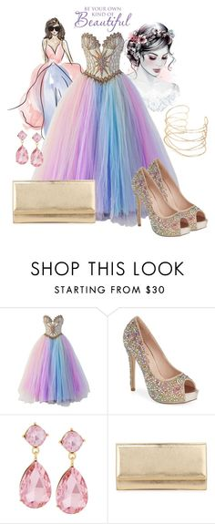 """""""Be Your Own Kind Of Beautiful"""" by natalie1789 ❤ liked on Polyvore featuring Bob Mackie, Lauren Lorraine, Emily & Ashley and Jimmy Choo"""