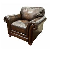 Nebraska Furniture Mart – La-Z-Boy William Leather Chair in Brown Mahogany $929.99