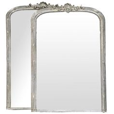 Pair of Grand 19th Century French Louis Philippe Silver Gilt Mirrors | 1stdibs.com