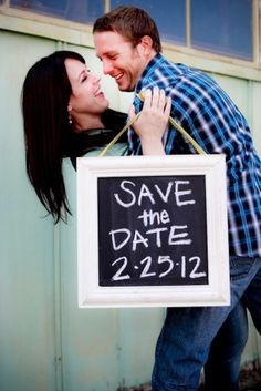Cute Save the Date Sign Engagement Announcements, Engagement Pictures, Engagement Shoots, Wedding Engagement, When I Get Married, I Got Married, Wedding Stuff, Our Wedding, Dream Wedding