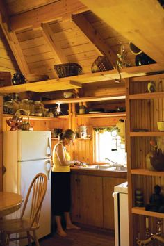 Quietude, a 300 sq ft tiny house with sleeping loft | www.facebook.com/SmallHouseBliss