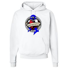Guillain Barre Syndrome Advocate Support Pullover Hoodie - White | Cancer Shirts | Disease Apparel | Awareness Ribbon Colors
