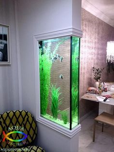 Those are the ideas of aquarium kitchen which can be your inspirations. Placing an aquarium in the kitchen is a smart idea to have a unique decoration. Aquarium Design, Aquarium Ideas, Aquarium In Wall, Aquarium Fish Tank, Aquarium House, Corner Aquarium, Seahorse Aquarium, Seahorse Tank, Goldfish Aquarium
