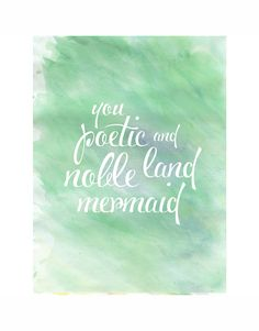 Parks & Rec BFF Quote #2 | Leslie Knope Seafoam Watercolor Wall Decor Print…