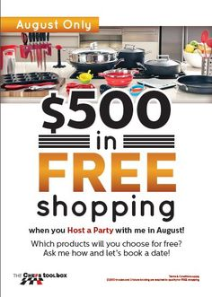 Hosting in September and October have extra bonuses. 3 levels of rewards and when you reach level 3 you receive $500 FREE shopping and any individual item for $75