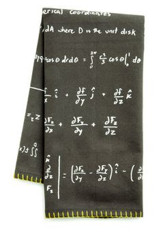 Okay... this is a dish towel, but it is still my style! I'll Wash, You Pi Dish Towel, #ModCloth