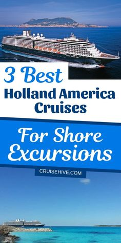 Holland America cruise tips for the best ships when it comes to shore excursions including the Noordam, Westerdam, and Maasdam. Cruise Excursions, Cruise Destinations, Shore Excursions, Holland America Alaska Cruise, Holland Cruise, Cruise Tips, Cruise Travel, Cruise Vacation, Italy Vacation
