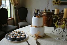 Our sunflower wedding cake