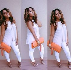 All White Outfits For Females All White Party Outfits, All White Outfit, Summer Outfits, Casual Outfits, Dress Casual, White Fashion, Look Fashion, Fashion Outfits, Womens Fashion