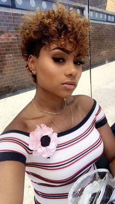 30 Short Curly Hairstyles for Black Women Hairstyles – Lockige Frisuren Black Women Hairstyles, Girl Hairstyles, Beautiful Hairstyles, Trendy Hairstyles, Short Natural Hairstyles For Black Women Tapered, Short Curly Weave Hairstyles, Tapered Haircut For Women, Short Natural Styles, Celebrity Hairstyles