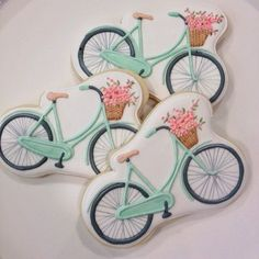 queenbee1924: (via Vintage bicycle cookies | ~ A Vintage Life ~ | Pinterest)