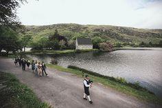 An Irish wedding at Gougane Barra, Ireland (oratory and holy well in the distance). Woodsy Wedding, Irish Wedding, Romantic Weddings, Reading Music, Spring Nature, Catholic Saints, Hotel Wedding, Woodland, Ireland