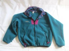 Vintage Columbia Patagonia Style Aztec Navajo Print Fleece Snap Synchilla Pullover Jacket Made in U.S.A. on Etsy, $44.95