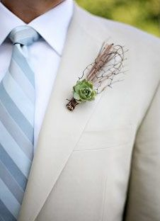 Getting Twiggy with It ~ cool boutonniere idea!