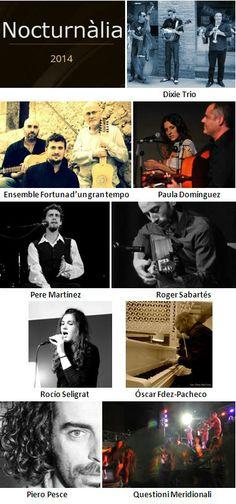 Nocturnàlia 2014, cicle de concerts d'estiu a la Basílica de Santa Maria del Pi (Barcelona). Del 14 al 26 de juliol
