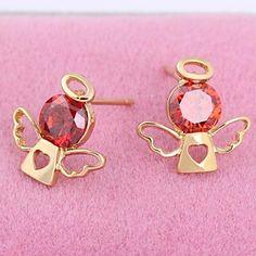 Women's Fashion Unique Design 18K Gold Zircon Earrings – USD $ 2.99