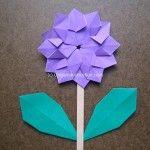 Origami Instruction Modular Flower
