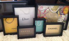 Framed Designer Bags for the office of 'Iliki the stylist' 2013