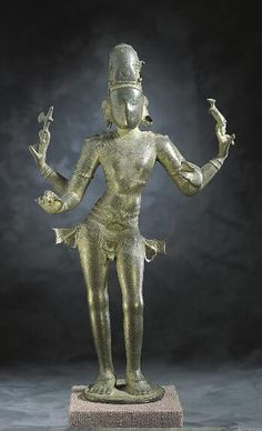 Shiva as Lord of Music,11th century  India: Tamil Nadu, 1000-1099 Bronze 16-5/8 x 10 in. (42.2 x 25.4 cm)